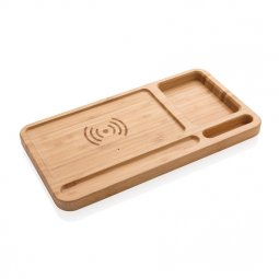 XD Collection Bamboo desk organizer & wireless charger