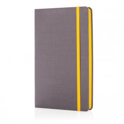XD Collection Deluxe fabric notebook with colored side