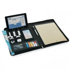 XD Collection Deluxe Tech portfolio with zipper