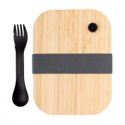 XD Collection glazen lunchbox met bamboe deksel