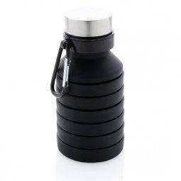 XD Collection lekvrije opvouwbare siliconen fles met schroefdop