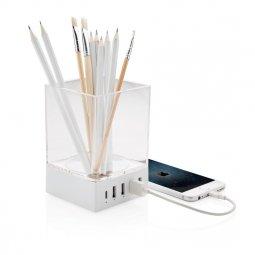XD Collection pennenhouder en USB oplader
