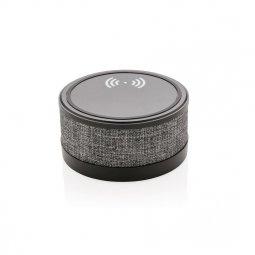 XD Collection stoffen draadloos oplaadstation met luidspreker