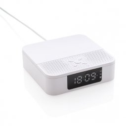 XD Collection Wireless charging speaker with time display