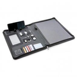 XD Design Air A4 schrijfmap met draadloze oplader & powerbank