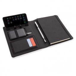 XD Xclusive Air A5 RPET writing case with wireless charger