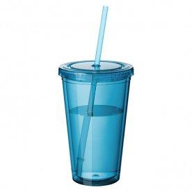 Transparent aquablauw