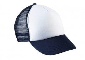 White - Navy blue
