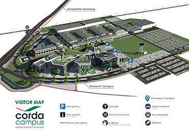 Visitor map Corda Campus